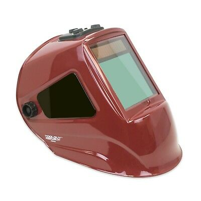 "TGR Extra Large View Auto Darkening Welding Helmet 4""W x 3.65""H with SIDE VIEW"
