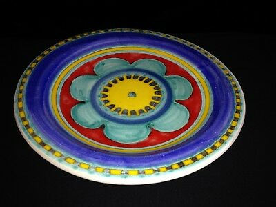 Desimone Hand Painted Mid Century 10 Inch Flower Plate Italy