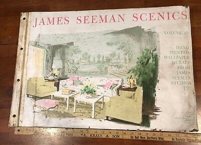 James Seeman Scenics Vol 15 Hand Printed Wallpaper Murals Sample Book Large