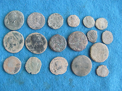 Fantastic Lot of 18 Roman Bronze/Copper Coins - Imperial and Provincial