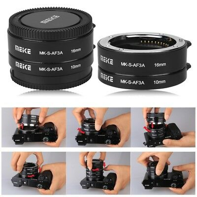 Meike Metal Auto Focus Macro Extension Tube Set for Sony E Mount Micro DSLR Lens