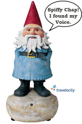 """TRAVELOCITY Talking Roaming GNOME 8.5"""" Travel Selfie Prop MOTION ACTIVATED  2011"""