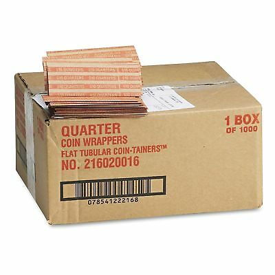 Coin-Tainer Company Pop-Open Flat Paper Quarter Coin Wrappers 1000 ct New
