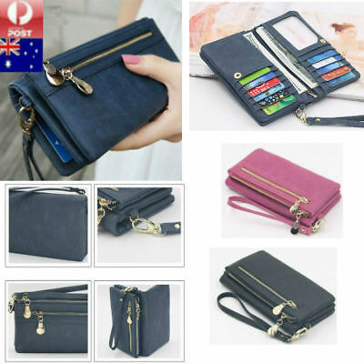 Long Travel Women Lady Purse Wallet Zip Card Phone Holders Double Handbag Case