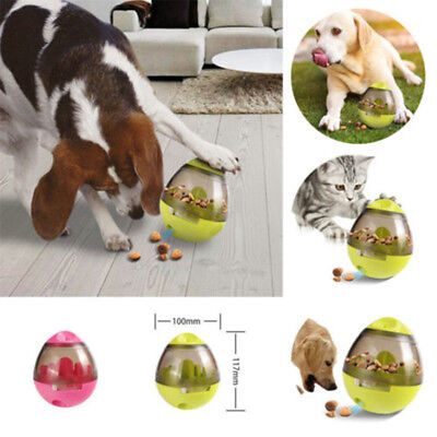 Pet Leak Food Puzzle Ball Dog Cat Feeder Toy Puppy Treat Training Dispenser AU