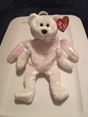 TY HALO the ANGEL BEAR BEANIE BABY - MINT with TAGS - SEE PICS