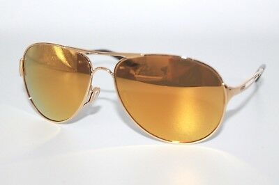 Oakley Caveat Sunglasses OO4054-18 Polished Gold W/ 24K Gold Iridium Lens