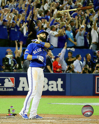 Toronto Blue Jays 8x10 Picture MLB Baseball Jose Bautista ALDS Bat Flip Home Run