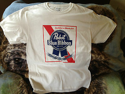 Pabst Blue Ribbon Beer T-shirt Size Medium PBR Cotton Port & Co Graphic