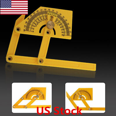 """US 6"""" Angle Finder Protractor Goniometer Miter Gauge Tool Plastic Brass Fittings"""
