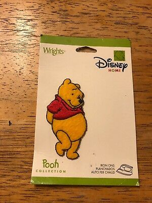 "NEW Wright's Disney Home Iron On Applique Approx 2.5""  Winnie The Pooh"