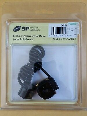 SP Studio Systems ETTL Extension Cord for Canon portable flash units FE-CAN/0.5