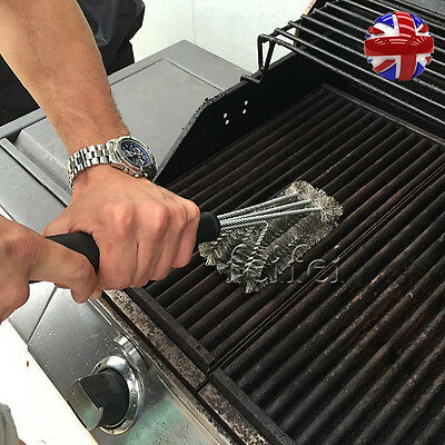 Barbecue BBQ Oven Grill Cleaning Brush Scraper Heavy Duty Wire Remover Cleaner