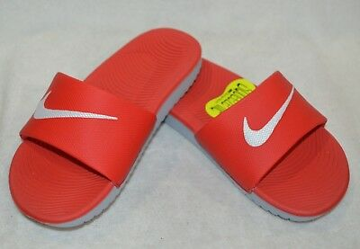 6c627b844b80fb NIKE BOY S KAWA Red White Grey Slide Sandal (GS PS)-Assorted Size ...