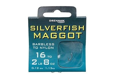 Drennan Silverfish Maggot Hooks To Nylon All Sizes Coarse Fishing
