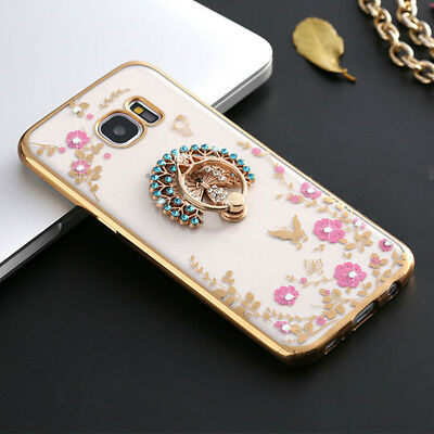 360 Degree Clasp Ring Holder TPU Soft Back Case Cover For Samsung Galaxy S7 G930