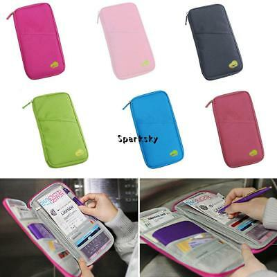 Portable Multifunction Wallet Passport Ticket ID Credit Card Holder LEBB