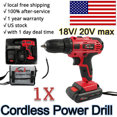 18v 20V Cordless Drill Battery Charger electric drill tool kit 2018 new us stock