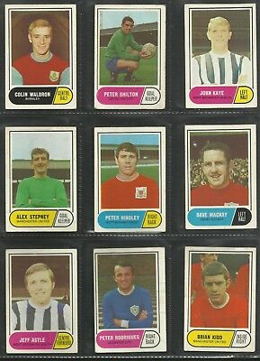 A&BC Football Facts Green Back Choose Your Card 1969 ..