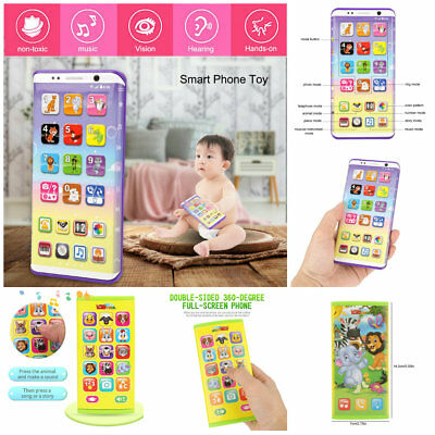 Educational Baby Kids Smart Phone Toy Electronic Learning Count Color Phone Toys
