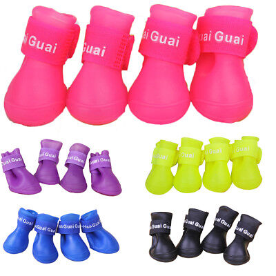 Pet Dog Cat Puppy Skidproof Waterproof Shoes Rainboot Rubber Rain Boots S-L AU