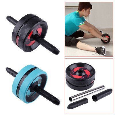 Ab Roller Wheel Abdominal Core Strength Training Exercise Workout Gym Fitness