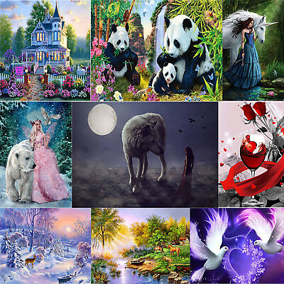 9 Arten Tiere DIY 5D Diamond Painting Diamant Malerei Stickerei Stickpackung