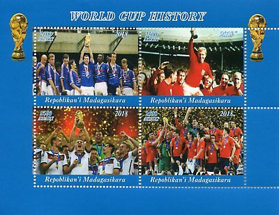 Madagascar 2018 MNH Football World Cup England Bobby Moore 1966 4v M/S II Stamps