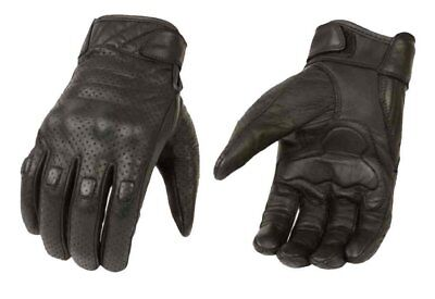 Leather Motorbike Motorcycle Summer Gloves Knuckle Protection