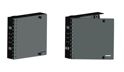 Fiber Optic FDP Wall Mount Patch Panel Cassette-Holds 1 LGX Style Adapter Plate