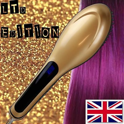 Electric Hair Straightening brush LED PINK