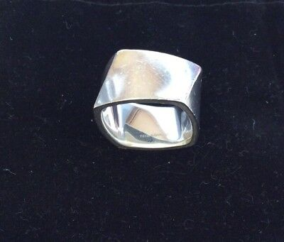 a3caa023cc54f TIFFANY & CO. Frank Gehry Torque Sterling Silver WIDE Ring Size 7.75 Unisex