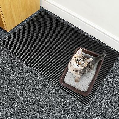Prime Paws Cat Litter Tray Mat  One Layers Kitten Scatter Control Floor Black