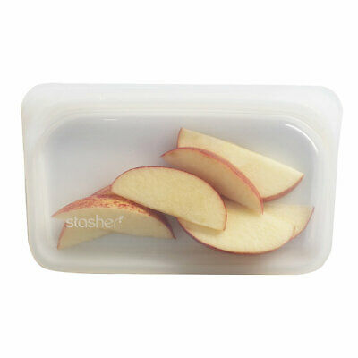STASHER REUSABLE SILICONE Food Bag, Clear - £15 90 | PicClick UK