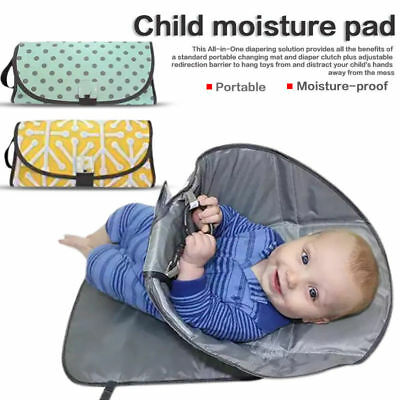 Changing Pad Portable Baby 3in1 Cover Mat Folding Diaper Bag cover Clean Hands