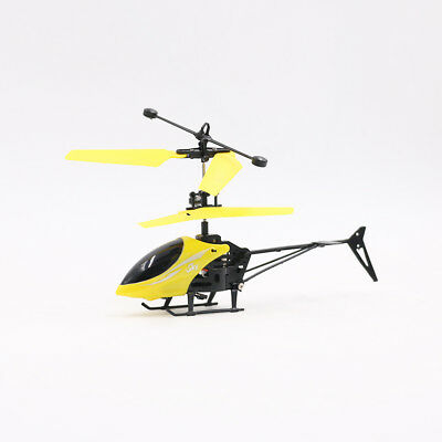 Mini Helicopter Induction Aircraft Remote Control RC Drone W/Flash Light/