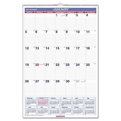"at-A-Glance Wall Calendar, Monthly, January 2019 - December 2019, 20"" x 30"""