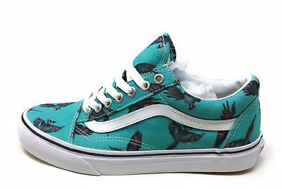 a32b51ffb212 Vans Old Skool Dirty Bird Canvas Shoe Turquoise White Mens 6.5   Womens 8