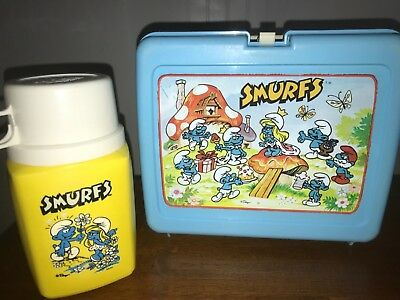 Smurfs Lunchbox with Thermos