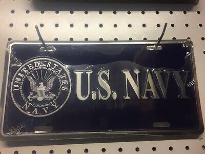 License Plate U.S. Navy, Metal , Made In The USA - NEW