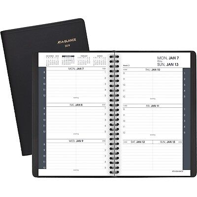 "2019 AT-A-GLANCE Weekly Planner, Jan 2019 - Dec 2019, 4-7/8"" x 8"", Black 7007505"