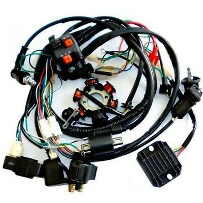 COMPLETE ELECTRICS ATV GY6 150CC CDI STATOR WIRING Harness Scooter on scooter lights, scooter fuel pump, scooter voltage regulator, scooter water pump, scooter gas tank, scooter wheels, scooter air filter, scooter speedometer,