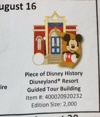 Piece of disneyland history Disneyland Resort guided tour building presale 8/16