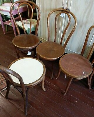Set Of Eight Bentwood Chairs 1938 Great Northern Chair Co. Chicago