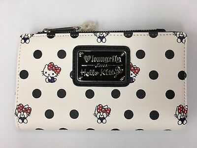 Loungefly Sanrio Hello Kitty Tri-fold Wallet With Polkadot
