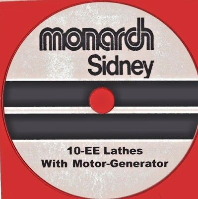 MONARCH 10-EE Lathe Operator & Parts manual on CD-ROM
