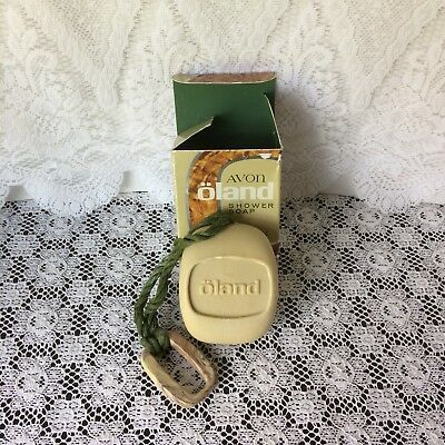 Vintage Avon Oland Soap On A Rope Bar Shower Soap New in Box
