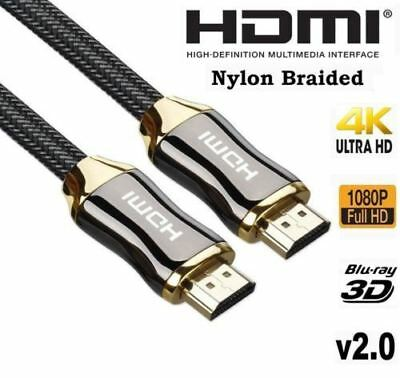 Premium HDMI Cable v2.0 Gold  High Speed HDTV UltraHD HD 2160p 4K 3D 1M to 20M