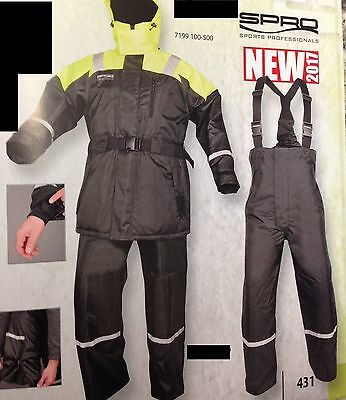 SPRO FLOATATION Suit Jacke und THERMAL Hose Gr. XL - NEW 2017 FLOATATION Anzug