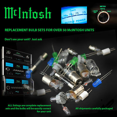 McIntosh Replacement Bulbs - complete set for MA5100 PREAMP lamps lights